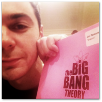 Jim Parsons posts a photo to his Instagram account, celebrating the first day of filming the eighth season of