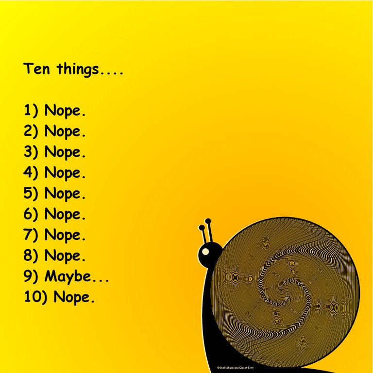 Ten Things...nope.