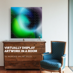 Virtually display artwork in a room