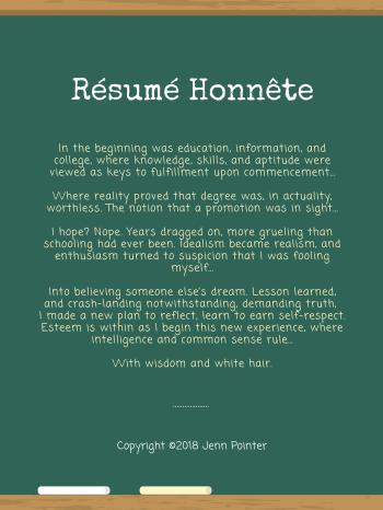 Résumé Honnête, poem by jennspoint