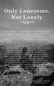 Only Lonesome Not Lonely, by jennspoint